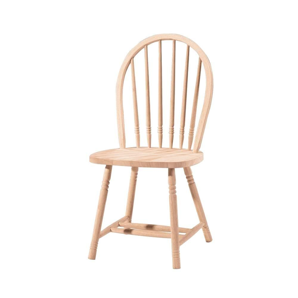 International Concepts Unfinished Wood Spindle Back Windsor Dining Chair 1c 114 The Home Depot Solid Wood Dining Chairs Unfinished Wood Chairs Windsor Dining Chairs