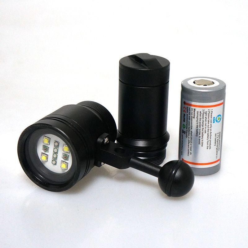 2016 Meikon 2400LM Diving Torch Light Lighting for