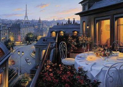 Paris Balcony 1000 Piece Puzzle By Ravensburger Paris Balcony Cross Paintings Beautiful Paintings