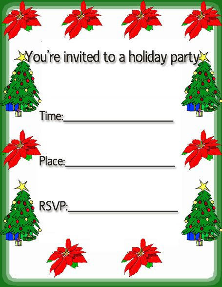free christmas invitation cards, free merry Christmas holiday party ...