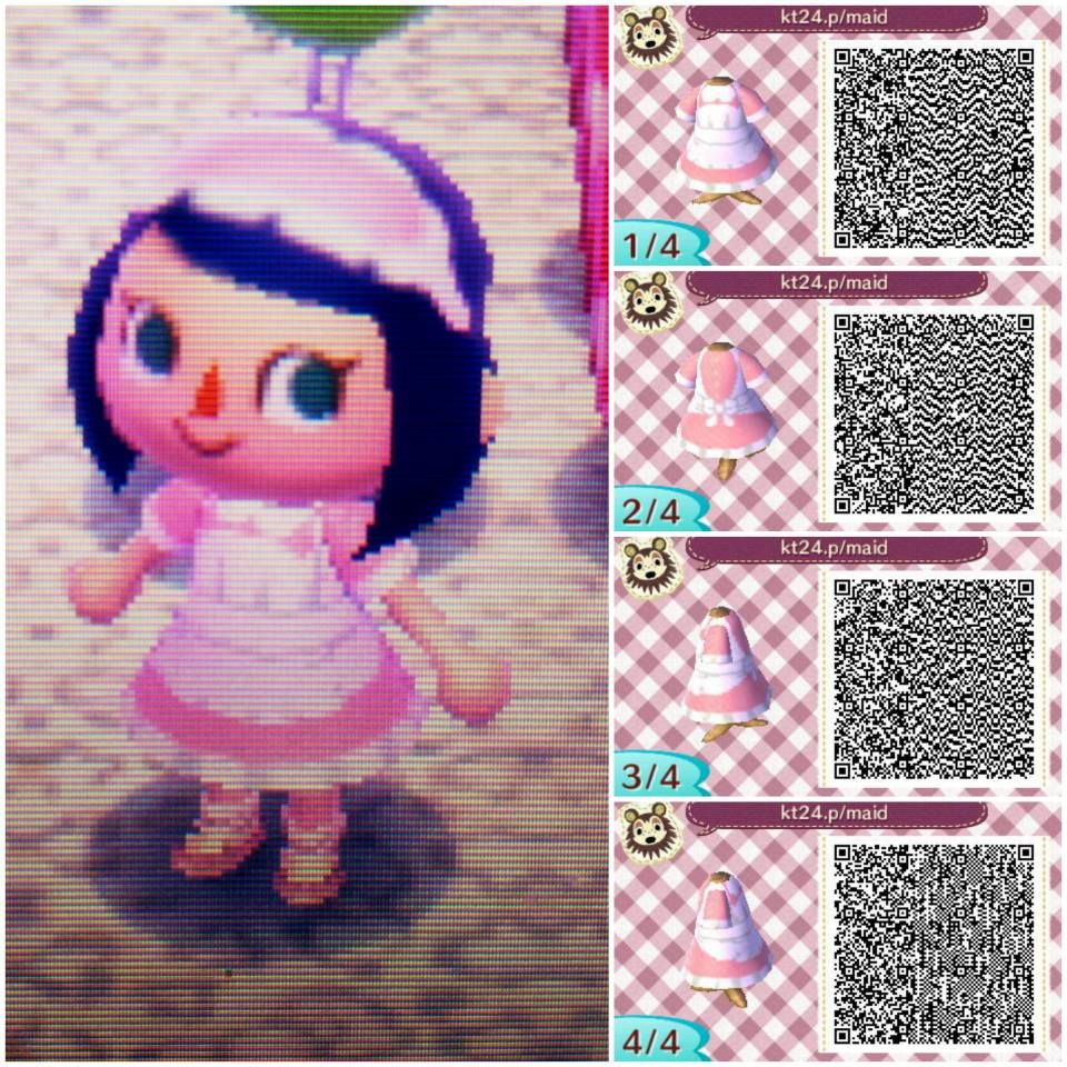 Pink Maid Dress by Maricel | Animal Crossing | Pinterest | Maids, Qr ...