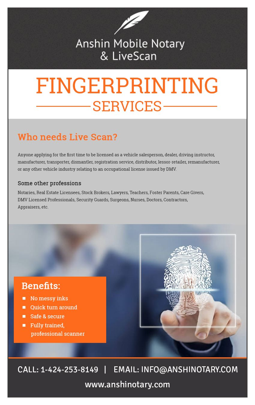 Live Scan Near Me | Fingerprinting Services Los Angeles