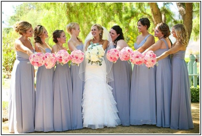 Gray bridesmaid dresses with pink flowers google search my gray bridesmaid dresses with pink flowers google search mightylinksfo