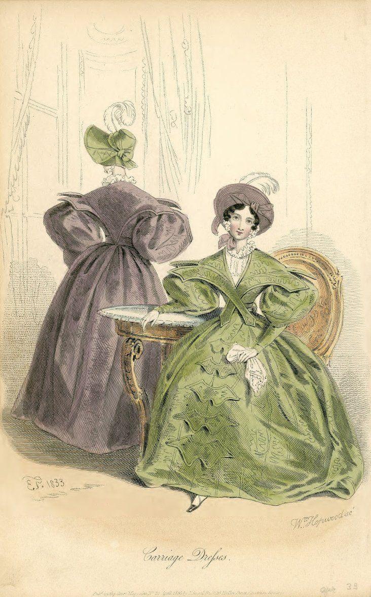 April, 1833 - Court Magazine - Carriage Dresses