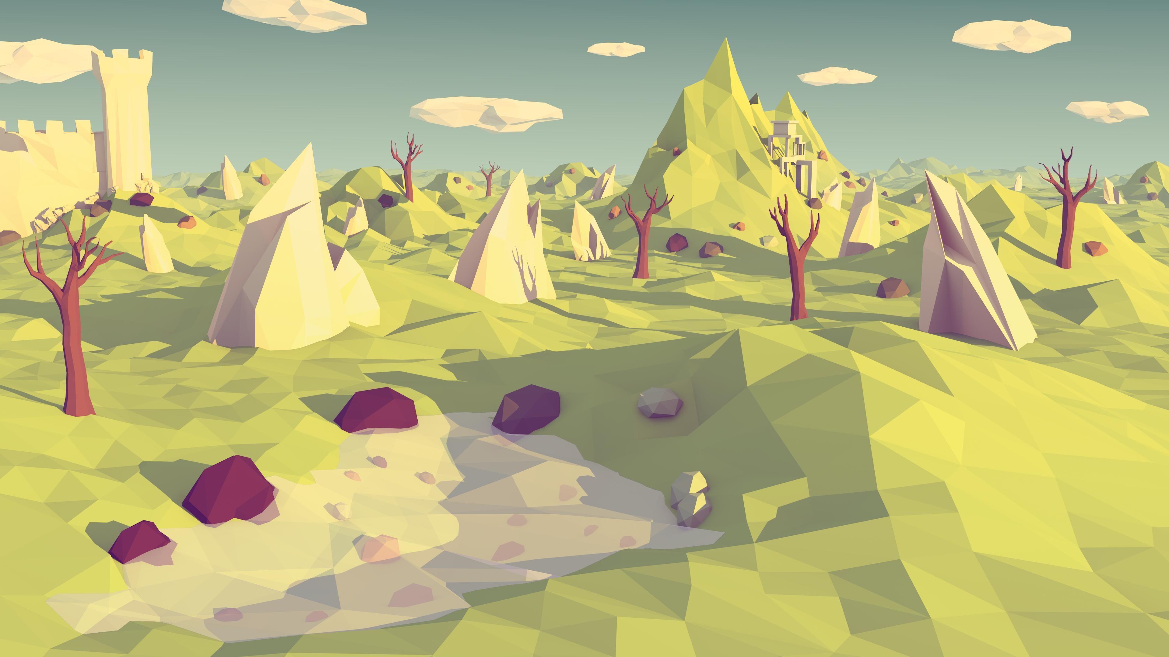 968fab6cef57 Low Poly Landscape + Process [Blender] | Low Poly Landscapes | Low ...
