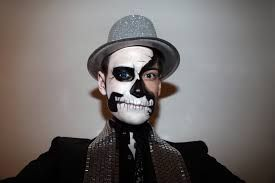 Image result for man sugar skull makeup