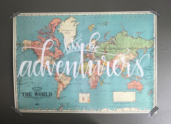 World map vintage style map by lovewellhandlettered on etsy world map vintage style map by lovewellhandlettered on etsy gumiabroncs Gallery