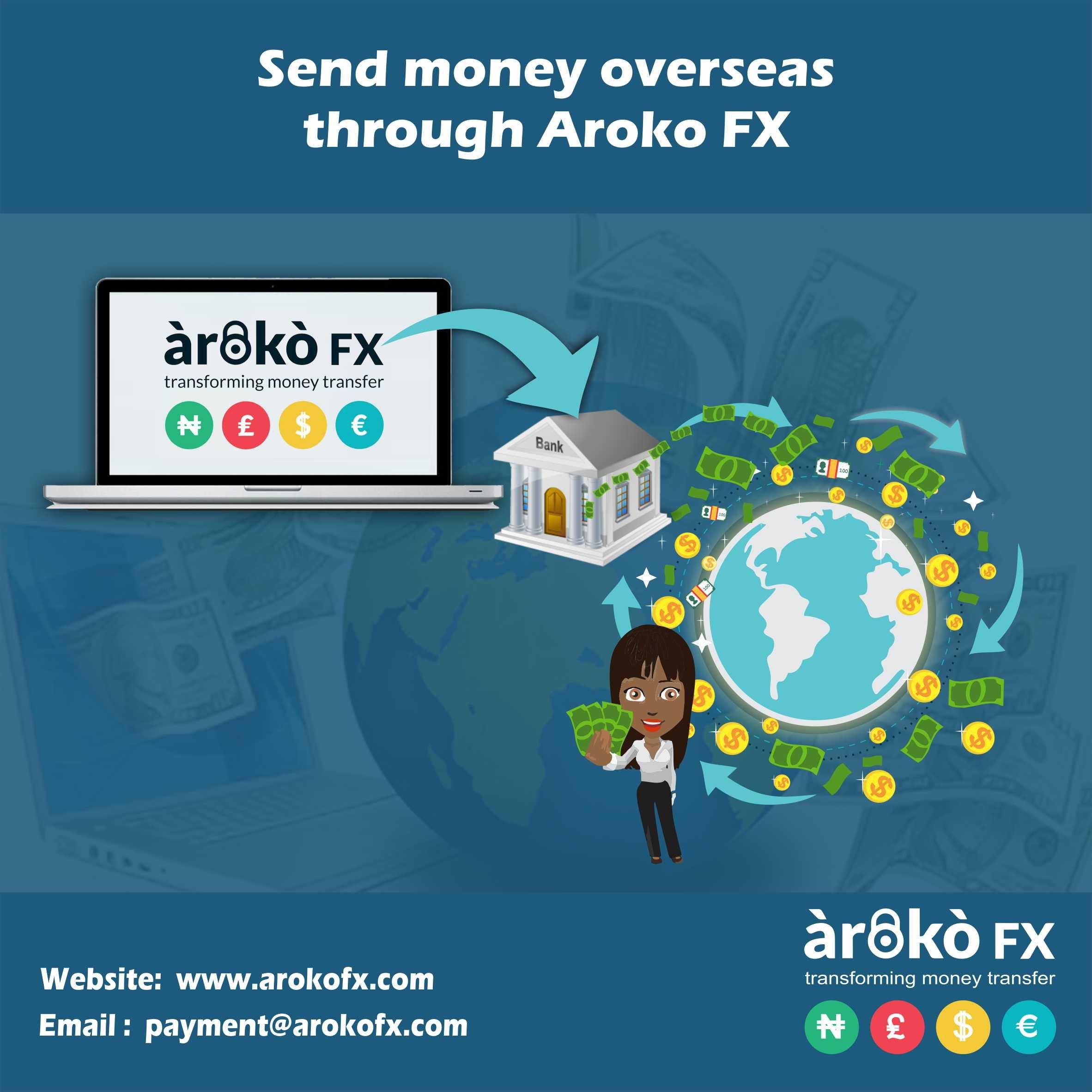 Send Money Overseas Through Aroko Fx Moneytransfer Sendmoney Remittance Fintech