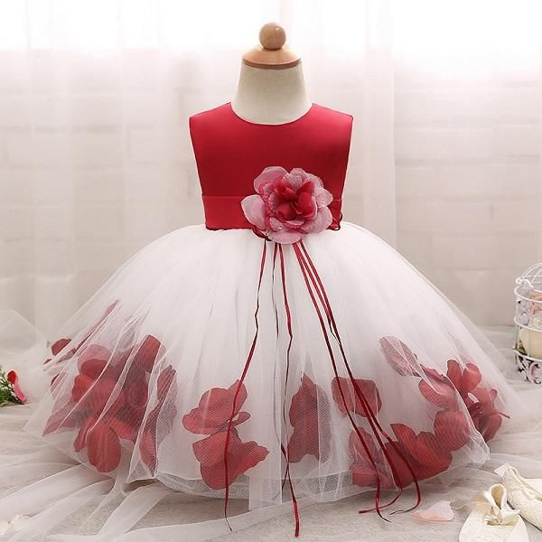 e24b89b15d839 New year Lace flower girls wedding dress baby girls Xmas cake ...