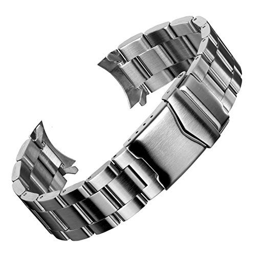oyster watch band by geckota in a brushed finish with multiple