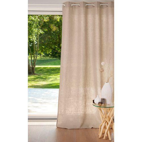 rideau lin lourd naturel rideaux lin