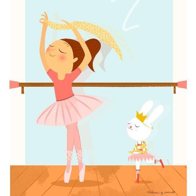 """""""Cuando el cuerpo baila la mente olvida"""" ¡Feliz Lunes!A las bailarinas de la casa les rechiflará esta lámina de #cristinagarciacintado - link en bio ☝ #dance #dancer #ballet #kids #art"""