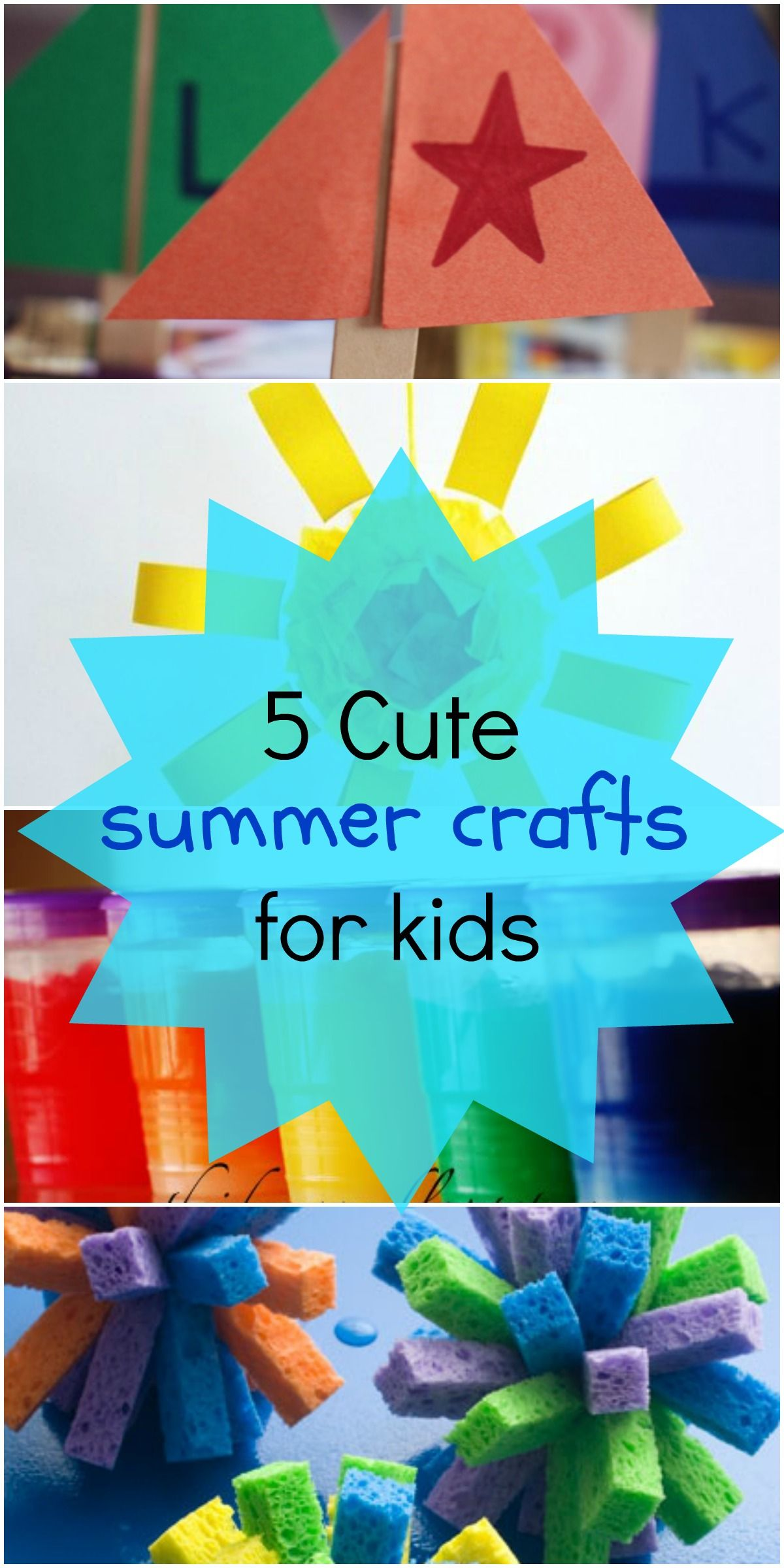 Kid Craft Ideas For Summer Part - 30: 5 Fun Summer Crafts For Kids - Love These Art Project Ideas!