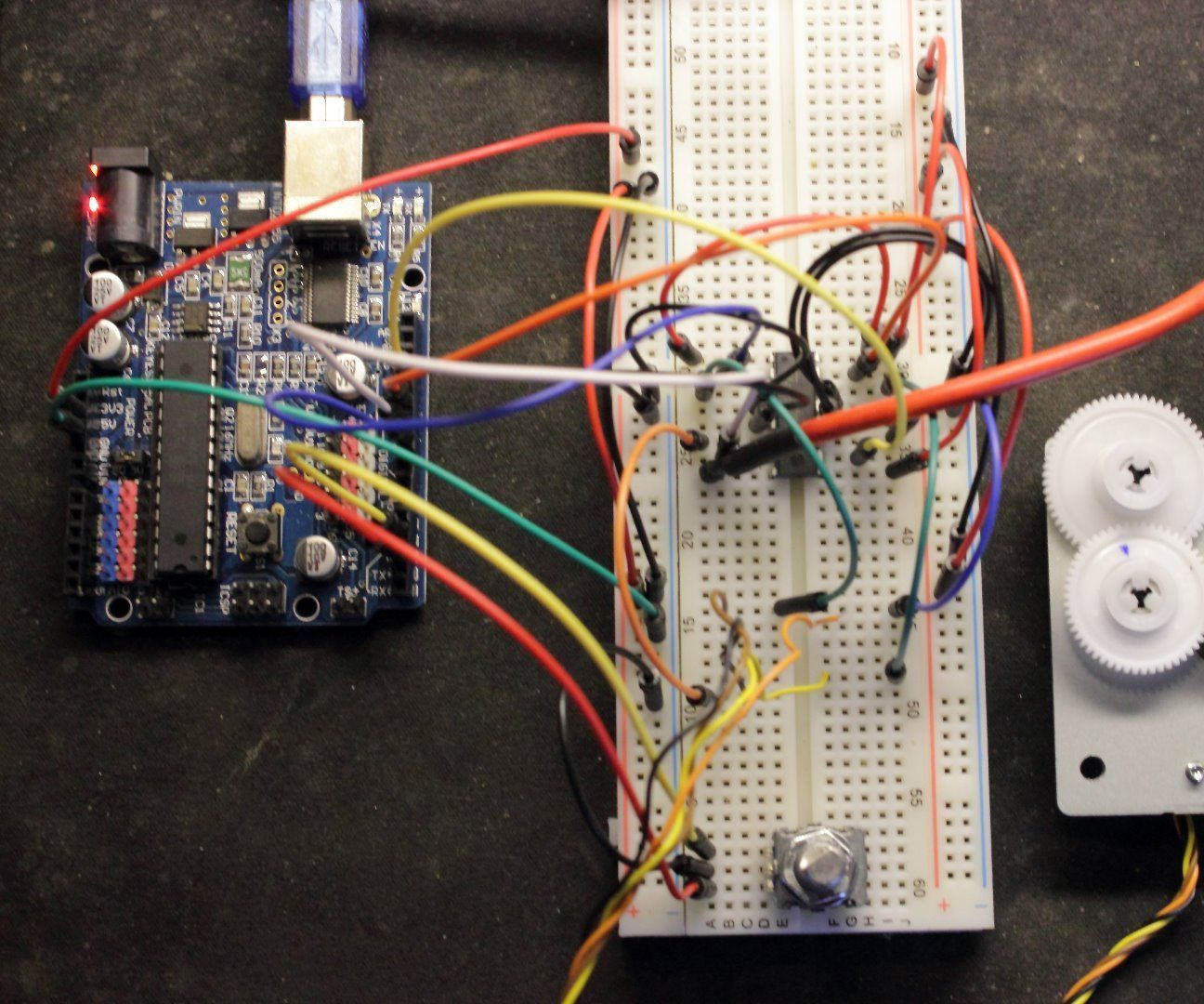 Control a dc motor with arduino and l293d chip for Arduino encoder motor control