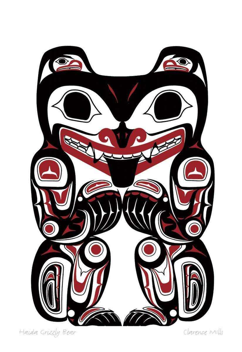 Haida grizzly bear by clarence mills native art pinterest haida grizzly bear by clarence mills buycottarizona