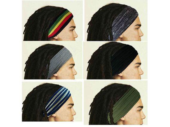 Dreadlocks Headband for Men Dreadlock Hair Wrap Tube by Unikatina ... b576f0b3134
