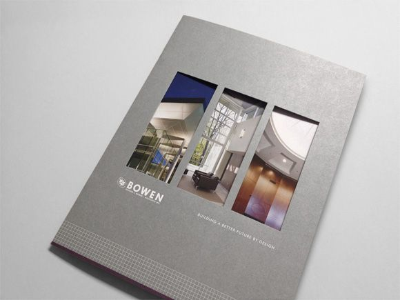 Architecture Design Brochure richard l. bowen + associates marketing brochure | daniel collins