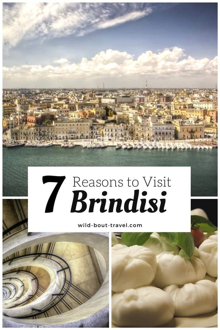 When thinking of the Puglia region, Brindisi is not the first destination that comes up to mind. For many, it is just the embarkation point to Greece, but the city is indeed well worth spending a few days, as I recently discovered. If you wonder why… Here are my 7 reasons to visit Brindisi and the surrounding area. Find out what to do in Brindisi. #Italy #Brindisi #Puglia #Apulia #traveltips