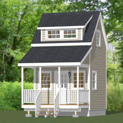 12x12 Tiny House 12x12h2 260 Sq Ft House Plans Shed Homes House