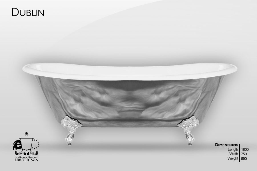 dublin - hand polished cast iron bath | bathtubs | pinterest | cast