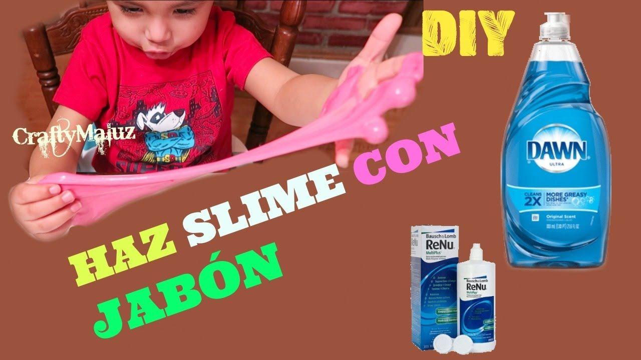 Haz Slime Con Jabón Líquido Dawn Para Trastes Slime Moco De Gorila Sin Jabones Jabon Liquido Trastes