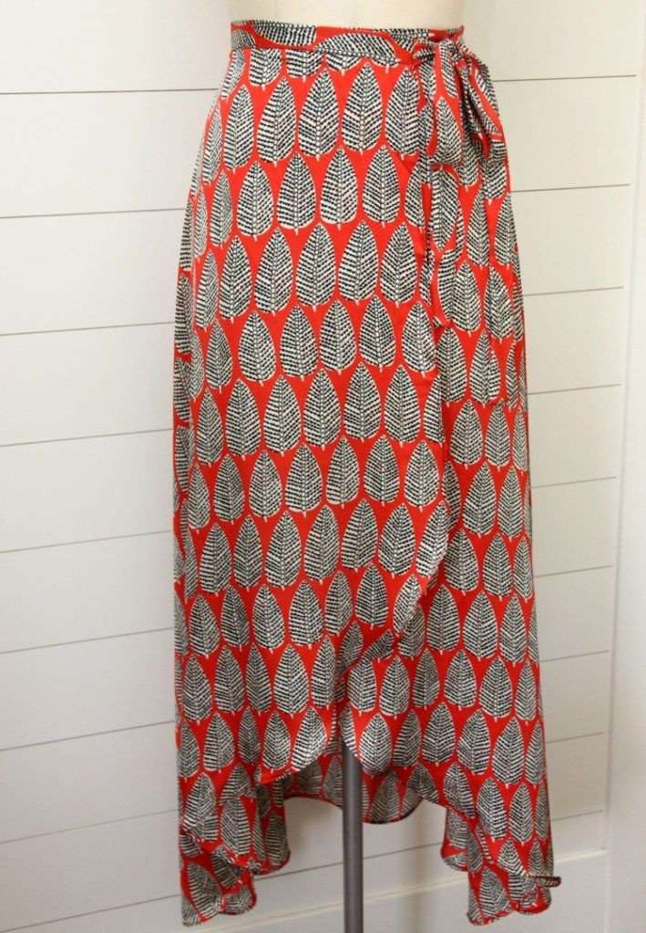 Tulip wrap maxi skirt pattern hack for New Look 6456 | sew clothing ...
