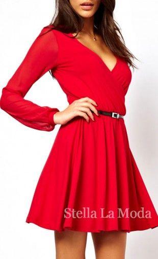 rood skater jurkje