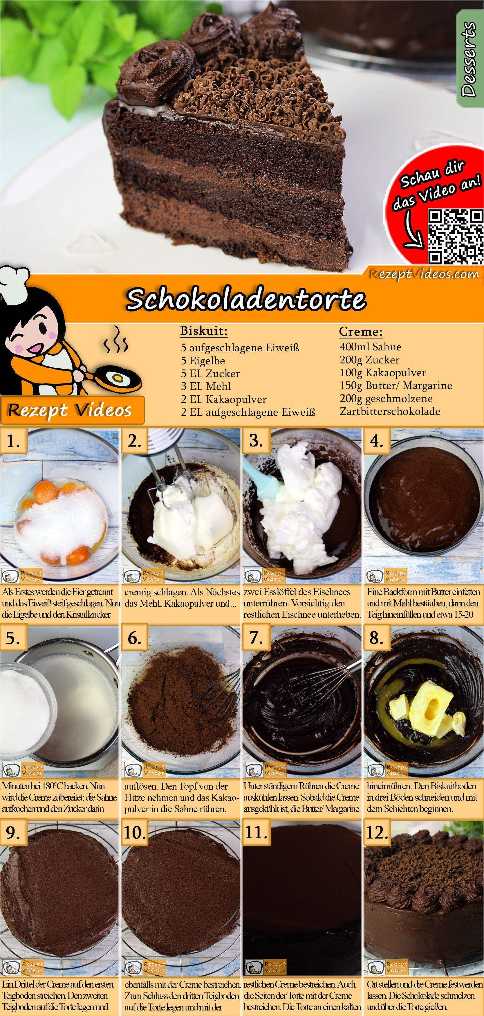 Schokoladentorte Rezept mit Video - Schokokuchen Rezept