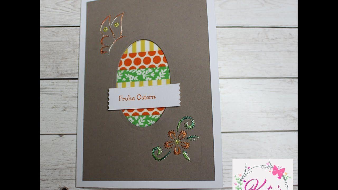 Tutorial: Osterkarte mit Fadengrafik