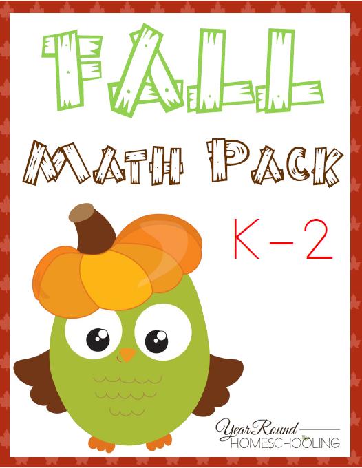 Free Fall Math Pack (K-2 | Maths, Homeschool and Homeschool math