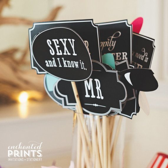 Printable DIY Photo Booth Props And