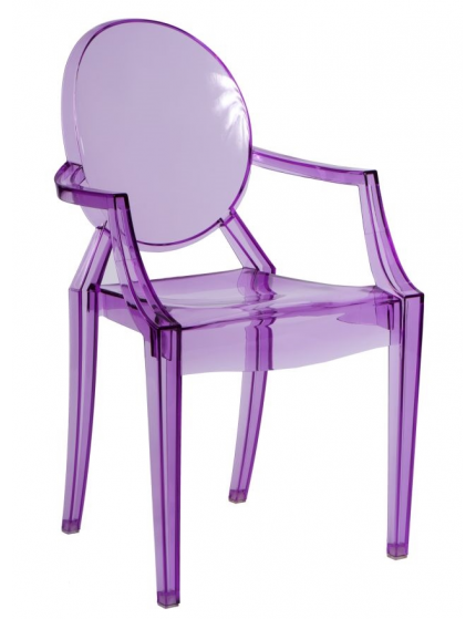 Scaun royal violet transparent Personalized kids chair