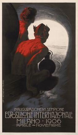 Metlicovitz, Leopoldo poster: Esposizione Internazionale - Milano 1906 (sm - Italian variant) (1906)