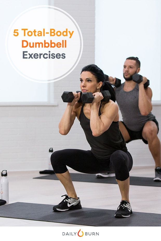 Dumbbell Workout: 5 Moves, 1 Full-Body Burn - Life by Daily Burn #dumbbellworkout