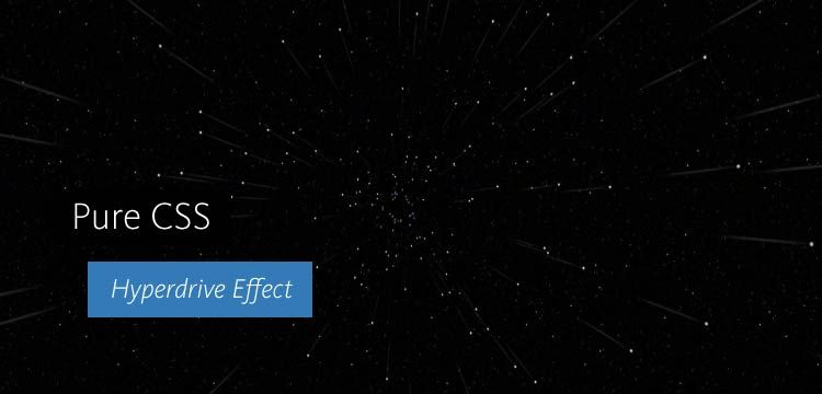 This pure CSS 3 demo shows a hyperdrive effect with stars
