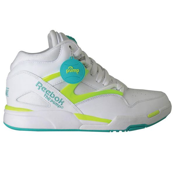 #Reebok Pump Omni Light Timeless Teal/White/Solar Yellow #sneakers
