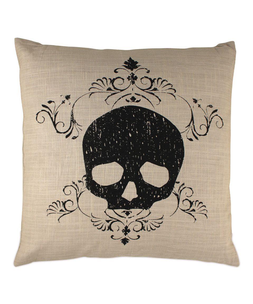 Damask Skull Pillow Skull pillow, Halloween pillows
