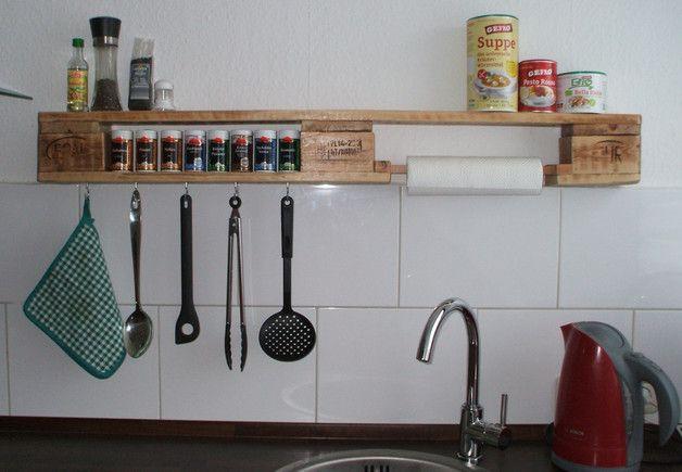 Küchenregal / Gewürzregal aus Palette Small spaces and Spaces - küchenregal selber bauen