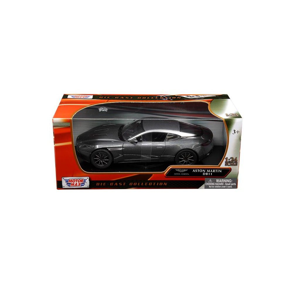 aston martin db11 silver 1/24 diecast model carmotormax