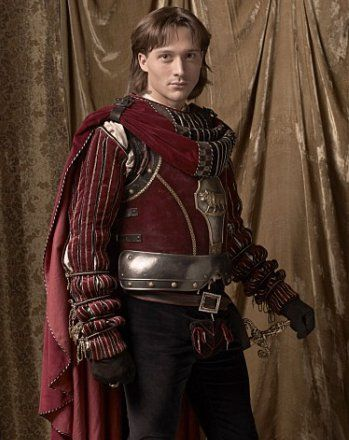 velvet covered armour ! good cloak attachment to David Oakes as Juan Borgia
