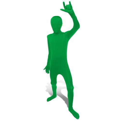 """size Medium 3/""""7-4/""""0 108cm-12... Glow Alien Kids Morphsuit Fancy Dress Costume"""