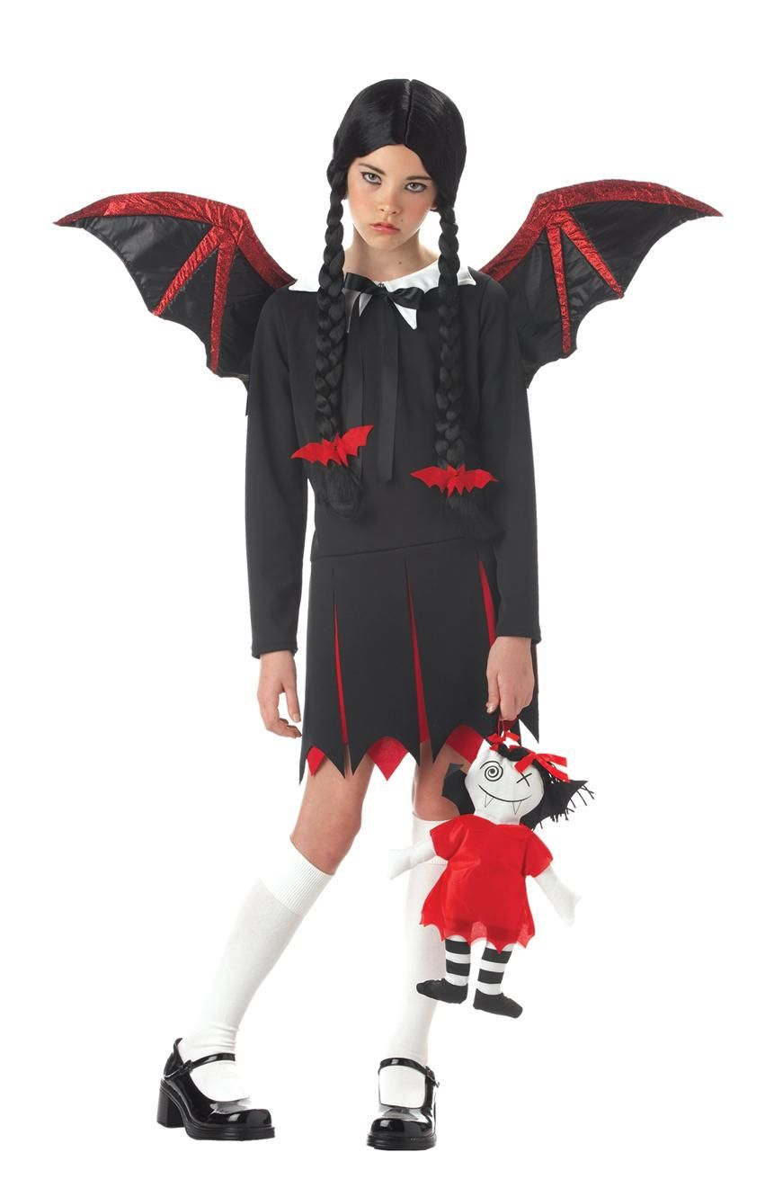 Image result for girl v&ire costume  sc 1 st  Pinterest & Very Bat Girl Child Gothic Vampire Halloween Costume | Gothic ...