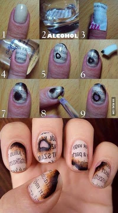 Coolest Nails I Ve Seen In A Long Time Simple Nails Nail Designs Nail Art Tutorial