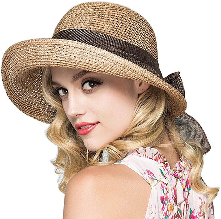 Kekolin Womens Straw Hat Floppy Foldable Roll up Beach Cap Sun Hat at Amazon  Women s Clothing store  81204a07f2f1