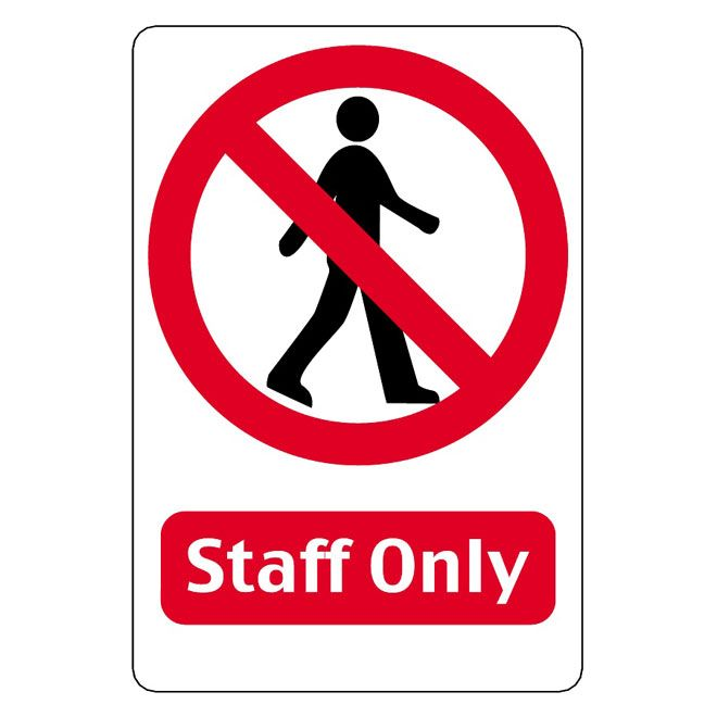 STAFF-ONLY-VECTOR-SIGN | Art in 2019 | Signs, Symbols, Recycle symbol