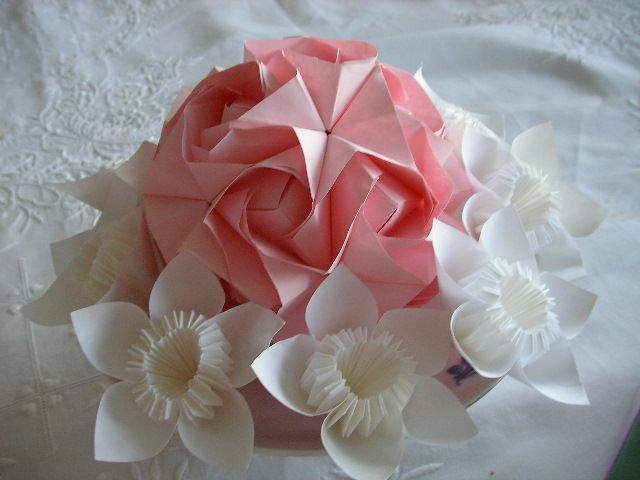 Table Decoration Origami Flowers Pinterest Table Decorations