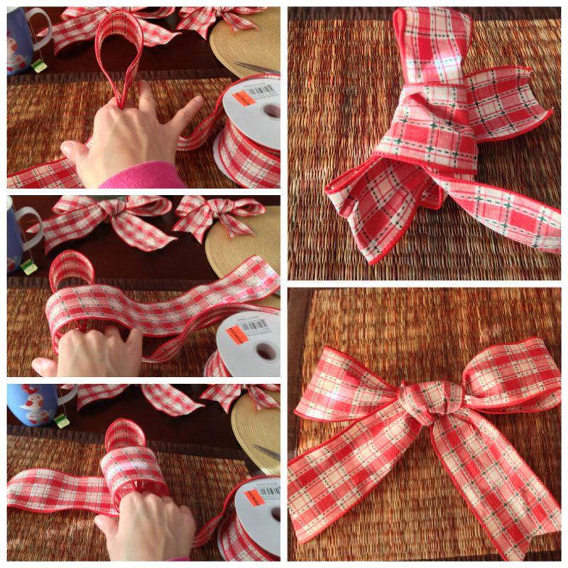 How to make a simple Christmas tree bow Christmas tree