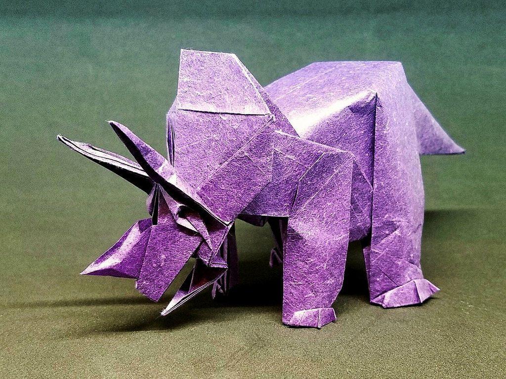 Triceratops 1999 designed by fumiaki kawahata by mttygroves triceratops 1999 designed by fumiaki kawahata by mttygroves origami modelsoragamijanuary jeuxipadfo Image collections
