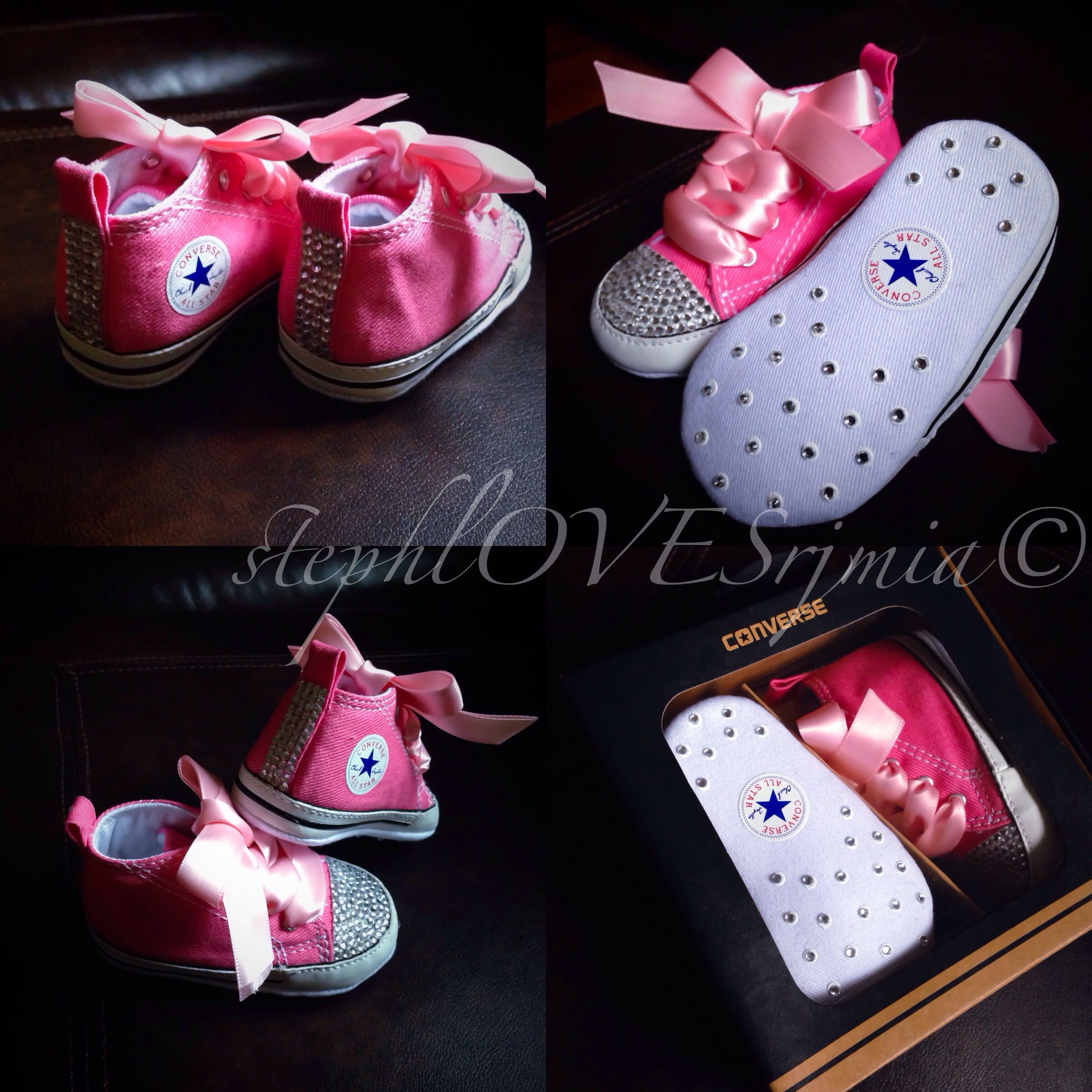 e79685f28f0d bedazzled converse for babies made by me