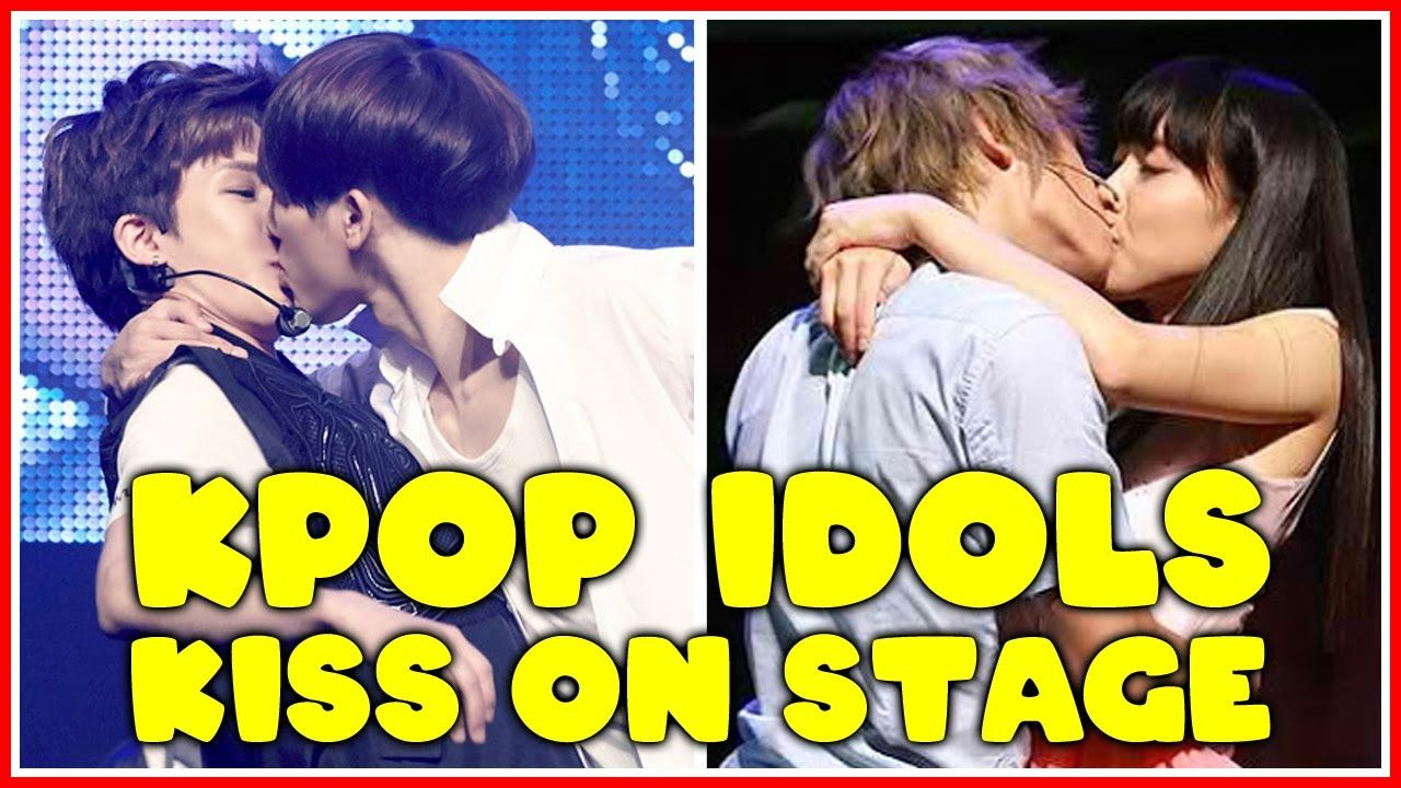 Kpop Idols Kiss On Stage Youtube Kpop Kiss Idol Kpop Idol